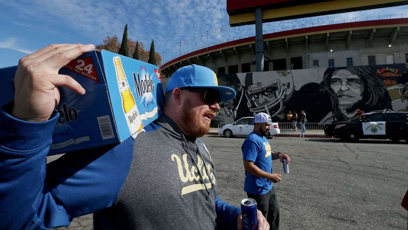 UCLA Fans Tailgating At The RoseBowl