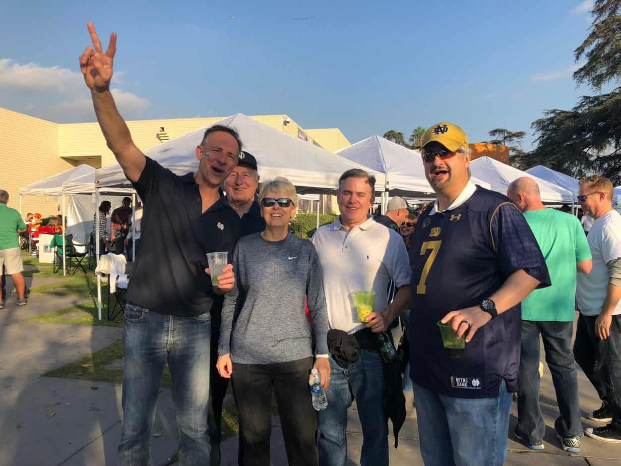 Notre Dame Fans Tailgating at USC