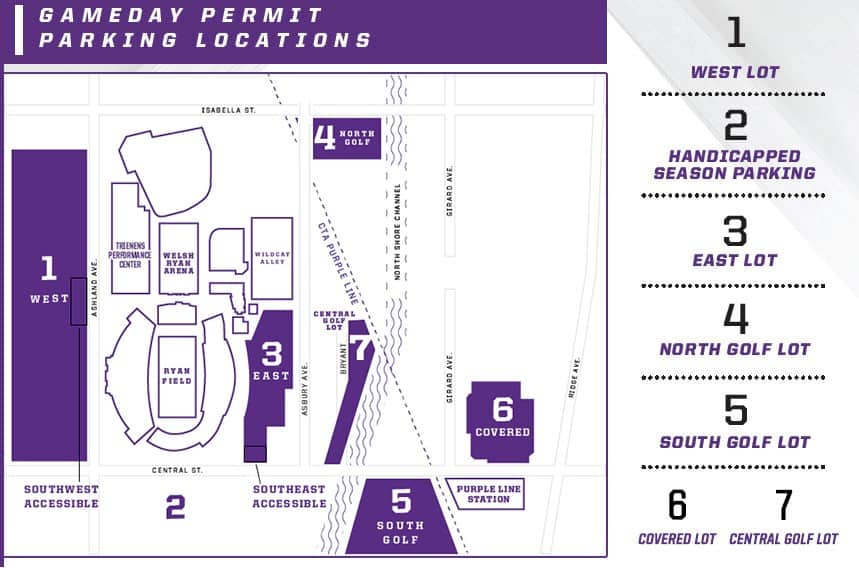 Tailgating at Northwestern Parking Options