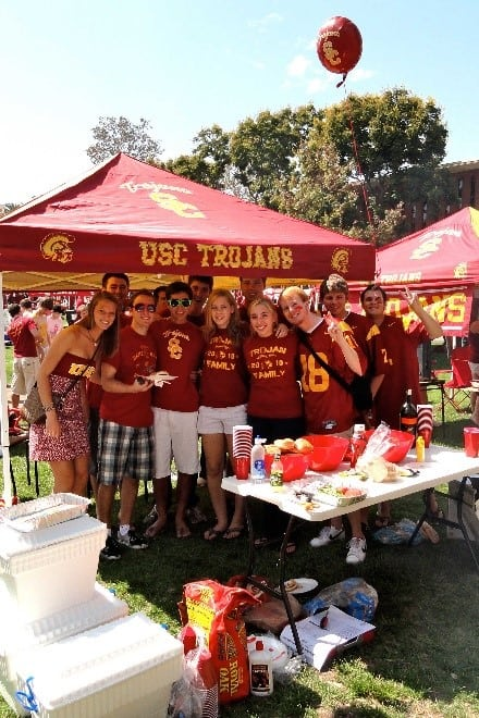 Tailgating at USC Campus