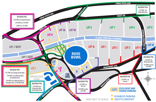 2020 Rose Bowl Parking Map