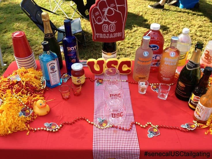 USC Tailgate Decorations Must Have for tailgating at home