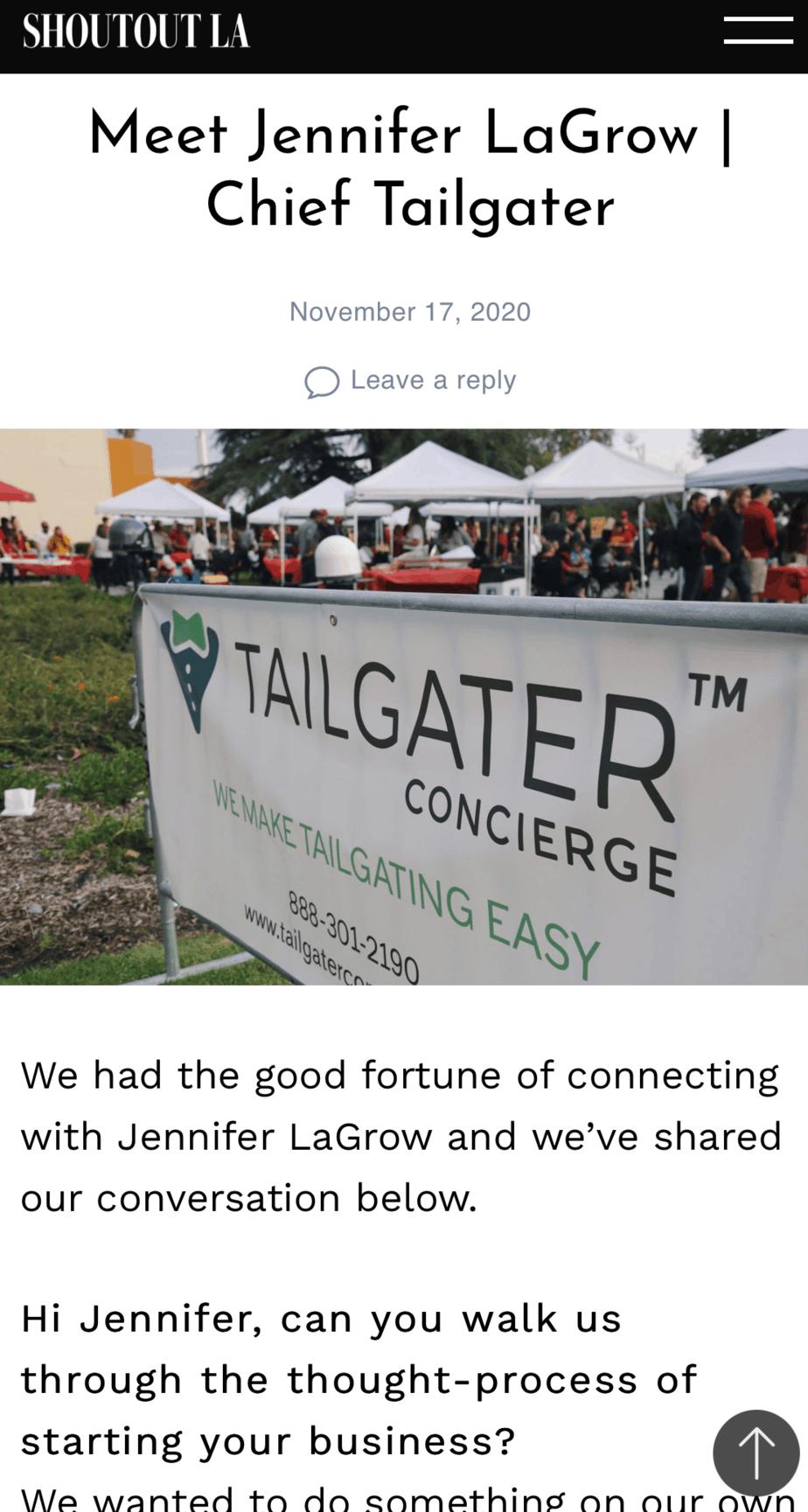 Tailgater Concierge Tailgate Service